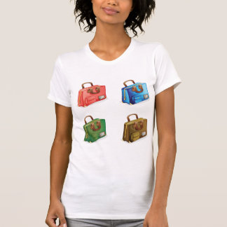 Four Suitcases Womens T-Shirt