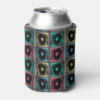 Four Turntables Graphic Can Cooler