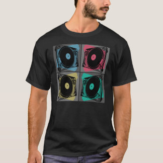 Four Turntables Graphic T-Shirt