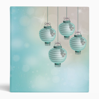 Four turquoise lanterns 3 ring binder