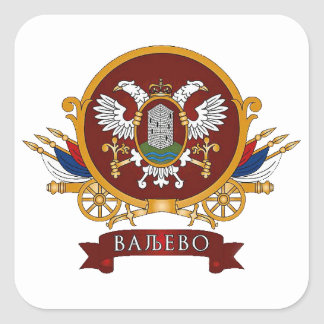 FOUR Valjevo Coat of Arms Square Sticker