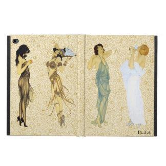 Four Vintage Retro Ladies Art Nouveau Floral Style Powis iPad Air 2 Case