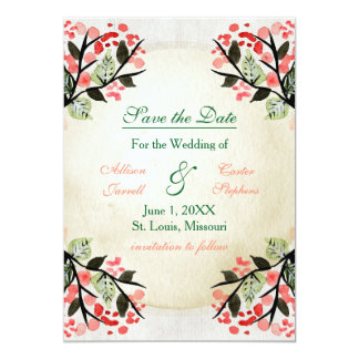 Four Watercolor Bouquets - Save the Date Card