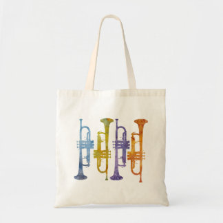 Four Watercolor Trumpets
