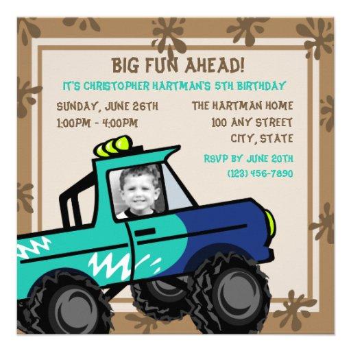 Four Wheel Fun/ Birthday Invite