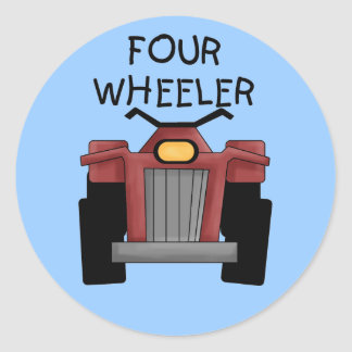 Four Wheeler Tshirts and Gifts Classic Round Sticker