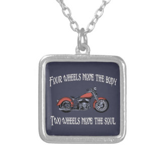 Four Wheels Move 717 Silver Plated Necklace