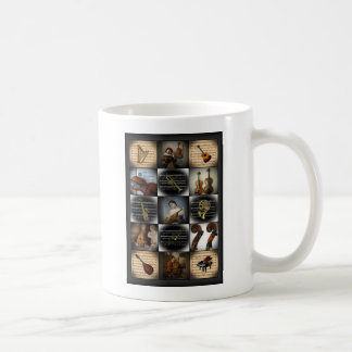 Four Works of Art ~ Various Musical Instruments Coffee Mug
