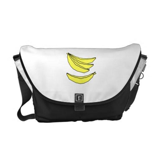 Four Yellow Bananas. Messenger Bag