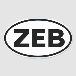"FOUR Zebulon ""ZEB"" Oval Sticker"