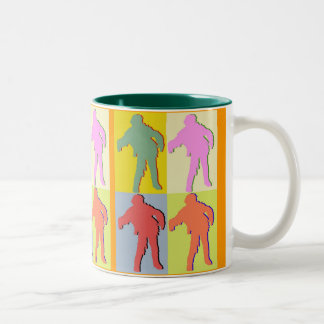 Four Zombies Style Two-Tone Coffee Mug