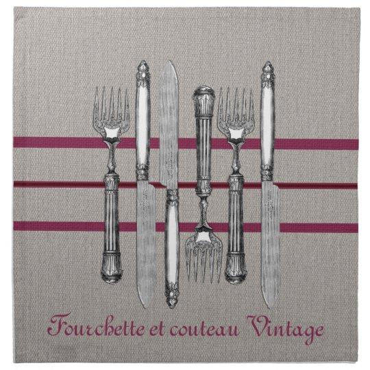 Fourchette et couteau Vintage Napkin