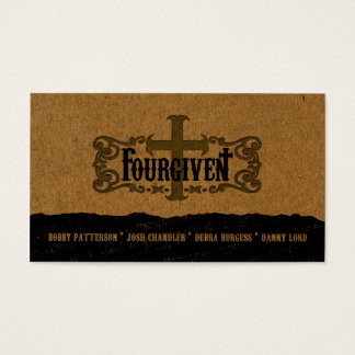 FOURGIVEN regular horizontal business card