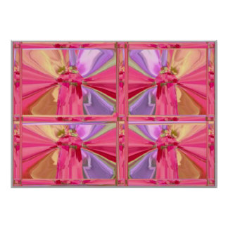 Foursome -  Butterflies or Lamp Shades Poster