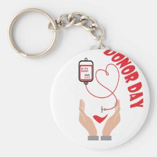 Fourteenth February - Donor Day - Appreciation Day Basic Round Button Keychain