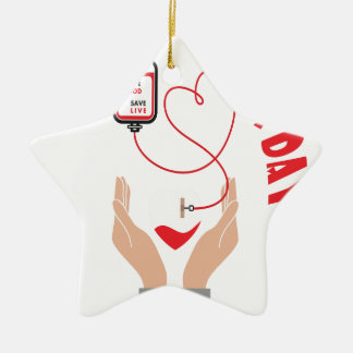 Fourteenth February - Donor Day - Appreciation Day Ceramic Ornament