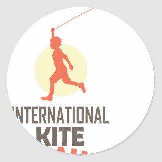 Fourteenth January - International Kite Day Classic Round Sticker