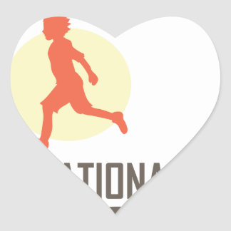 Fourteenth January - International Kite Day Heart Sticker