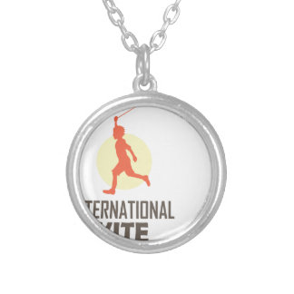 Fourteenth January - International Kite Day Silver Plated Necklace