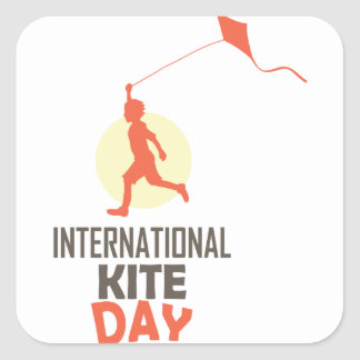 Fourteenth January - International Kite Day Square Sticker