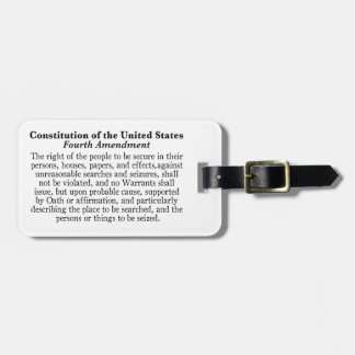 Fourth Amendment Luggage Tag
