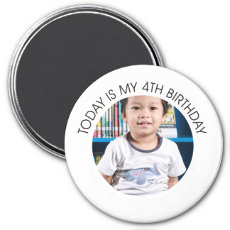Fourth Birthday Magnet
