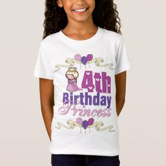 Fourth Birthday Princess T-Shirt