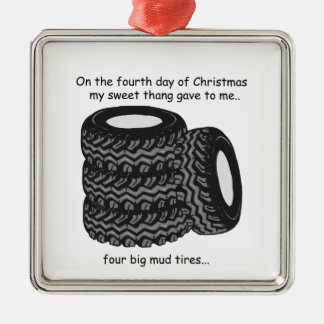 Fourth Day Redneck Christmas Metal Ornament