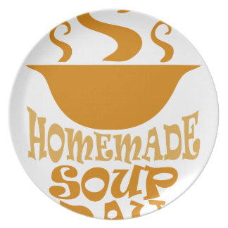 Fourth February - Homemade Soup Day Party Plate