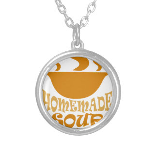 Fourth February - Homemade Soup Day Silver Plated Necklace