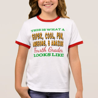 Fourth Grade Shirt   Awesome Fourth Grader