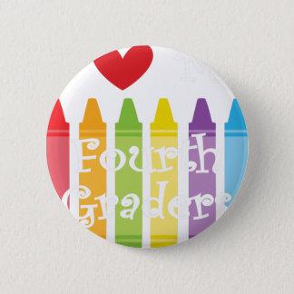Fourth grade teacher2 2 inch round button