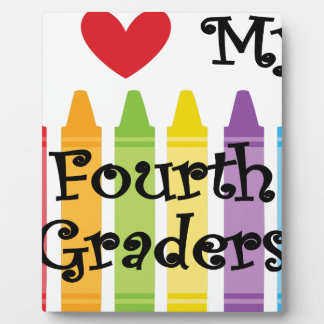 Fourth grade teacher plaque
