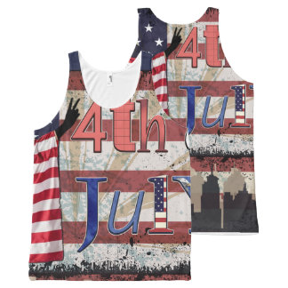 Fourth July All Over Print All-Over-Print Tank Top