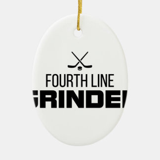 Fourth Line Grinder Ceramic Ornament