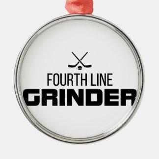 Fourth Line Grinder Metal Ornament