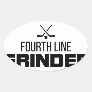 Fourth Line Grinder Oval Sticker