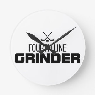 Fourth Line Grinder Round Clock