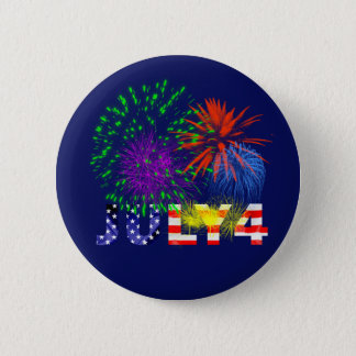 Fourth Of July 2 Inch Round Button