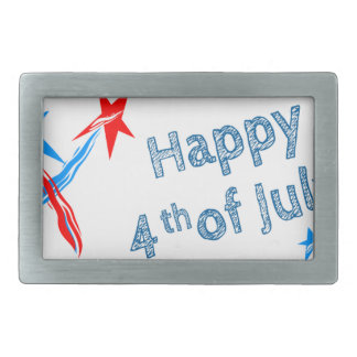 Fourth-of-July #2 Rectangular Belt Buckles