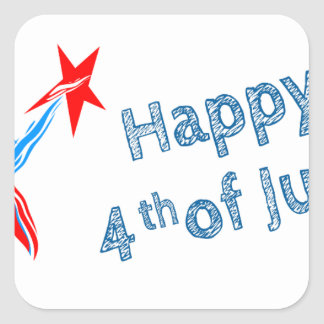 Fourth-of-July #2 Square Sticker