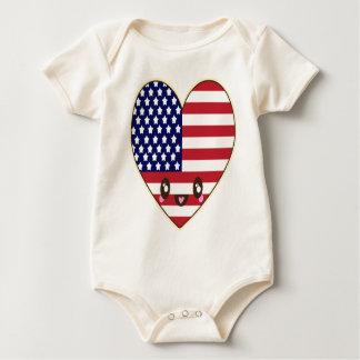 Fourth Of July 4 Baby Bodysuit