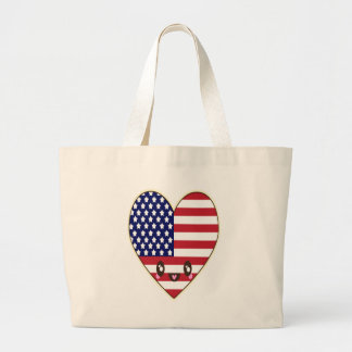 Fourth Of July 4 Large Tote Bag