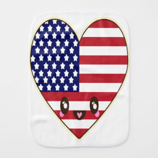 Fourth Of July 4th Burp Cloth