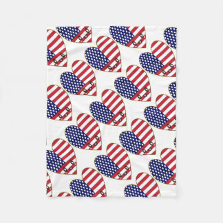 Fourth Of July 4th Fleece Blanket