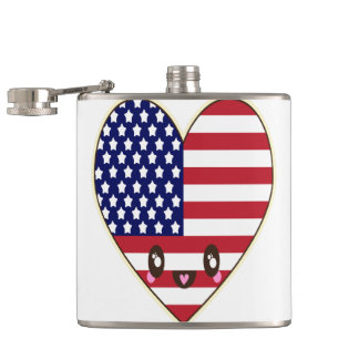 Fourth Of July 4th Hip Flask