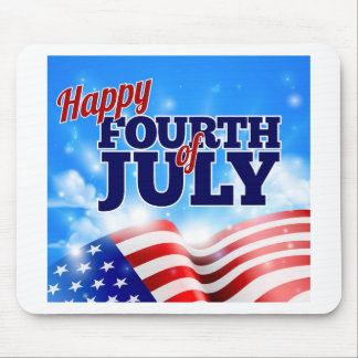 Fourth of July American Flag Background Sky Mouse Pad