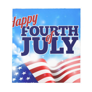 Fourth of July American Flag Background Sky Notepads
