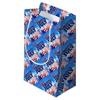 Fourth of July American Flag Background Sky Small Gift Bag