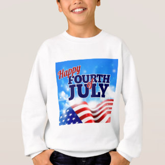 Fourth of July American Flag Background Sky Sweatshirt